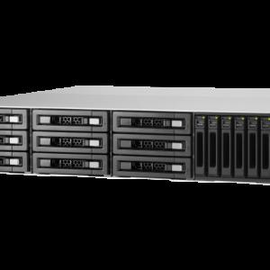 QNAP TVS-EC1580MU-SAS-RP-8GE-R2 15-Bay, 2U Rack-mountable (rails included) NAS with 3.50 GHz Intel Xeon E CPU and 8GB RAM