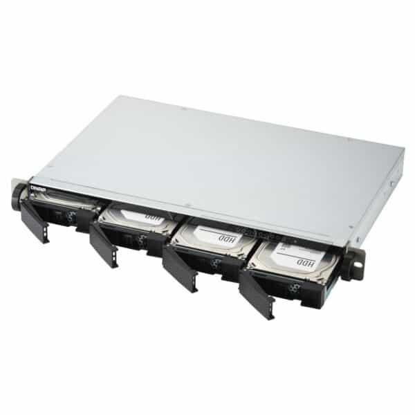 QNAP TS-451DeU-RP 4-bay rack-mountable NAS with hot-swappable drives