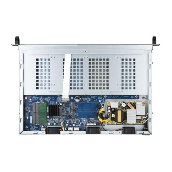 The inside of the QNAP TS-451DeU-RP 4-bay rack-mountable NAS