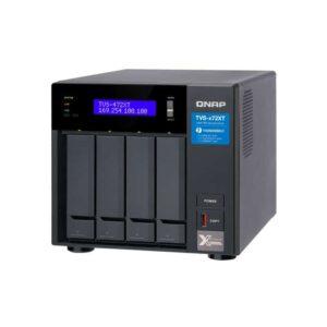 QNAP TVS-472XT-PT-4G 4-Bay Tower NAS with 3.10 GHz Intel Pentium CPU and 4GB RAM